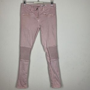 Zara- Medium Rise Slim Fit Pink Pants size 4